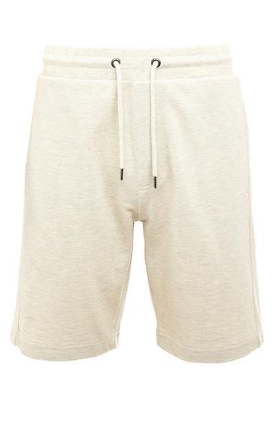 Beige Premium Knit Shorts