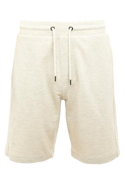 Short de jogging beige