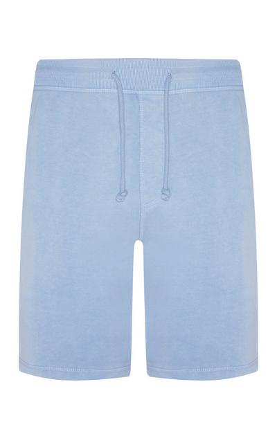 Light Blue Jersey Jogger Shorts