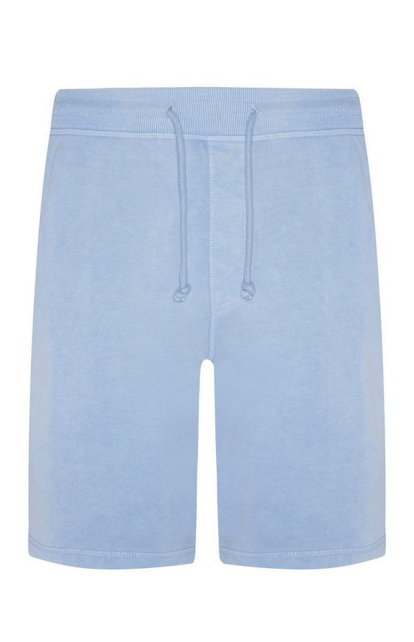 Short de jogging bleu clair