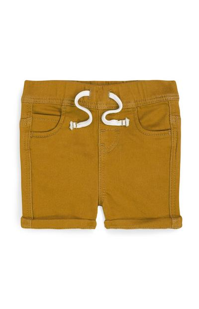 Baby Boy Brown Pull On Knitted Shorts
