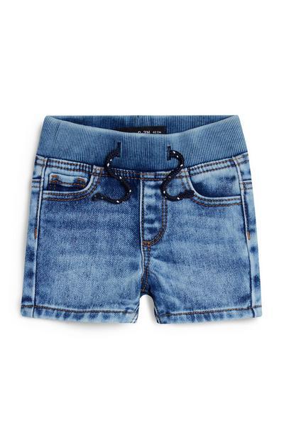 Baby Boy Pull On Denim Shorts