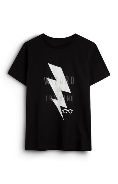 Camiseta negra con rayos de «Harry Potter Wizard In Training»