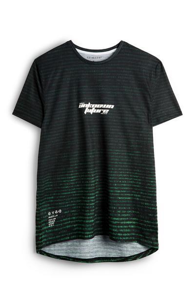 Green Text Fade T-Shirt