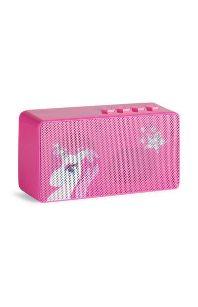 Altoparlante rosa wireless con unicorno