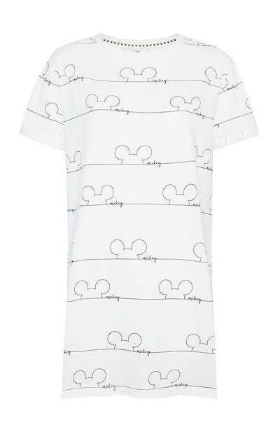 White Mickey Mouse Sleep Tee