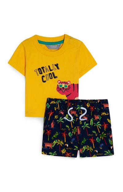 Top und Shorts mit Dschungel-Print für Babys (J)