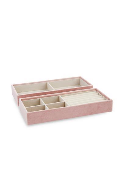 Rožnata škatlica za nakit