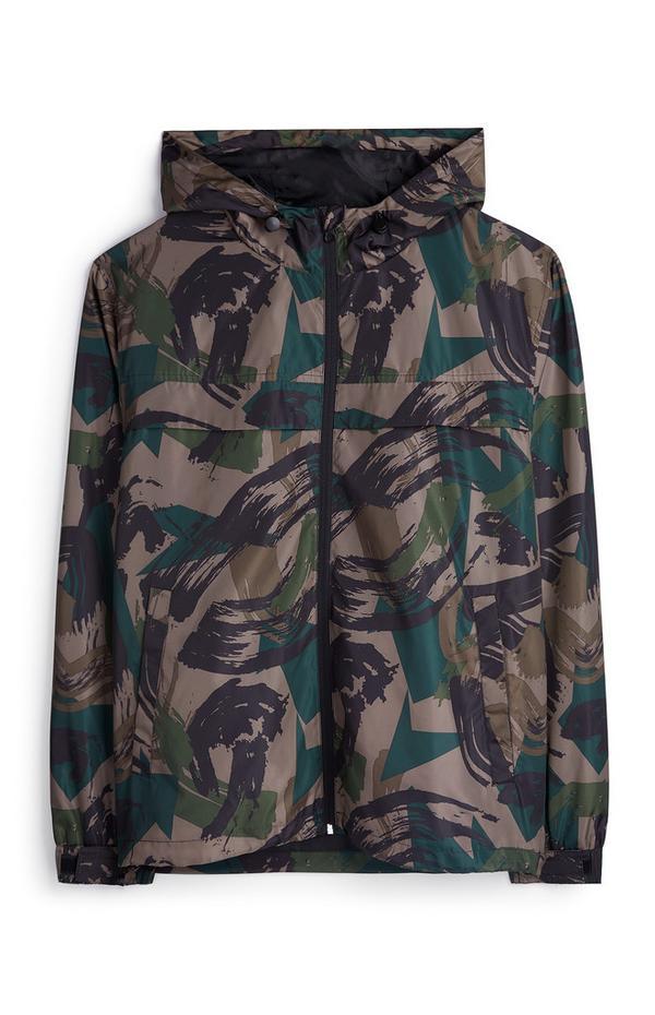 Lightweight Camouflage Print Hoodie