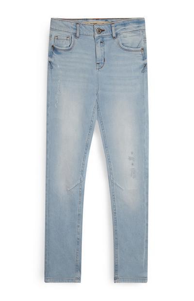 Lichtblauwe contrasterende jeans voor jongens