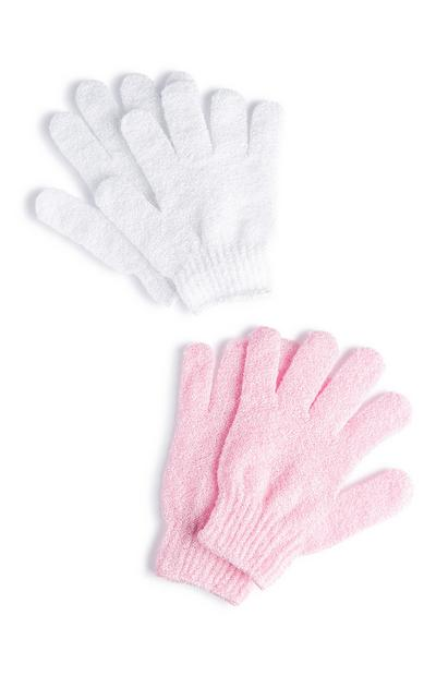 2-Pack Exfoliating Gloves