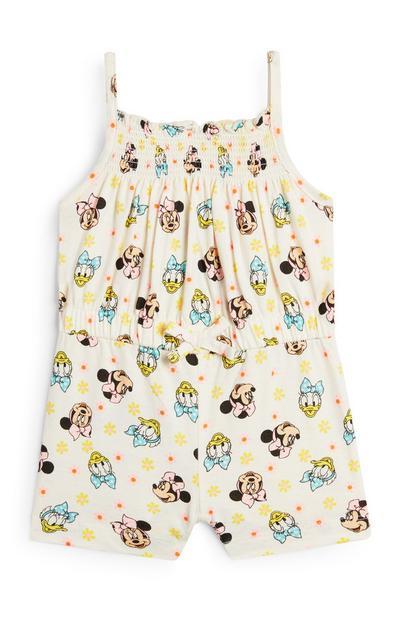 Combi-short jaune Minnie Mouse et Daisy Duck bébé fille