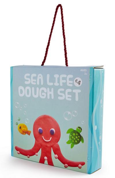Kit de pâte à modeler vie marine