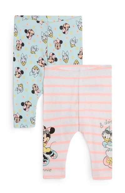 Blue And Pink Minnie Mouse And Daisy Duck Leggings 2Pk