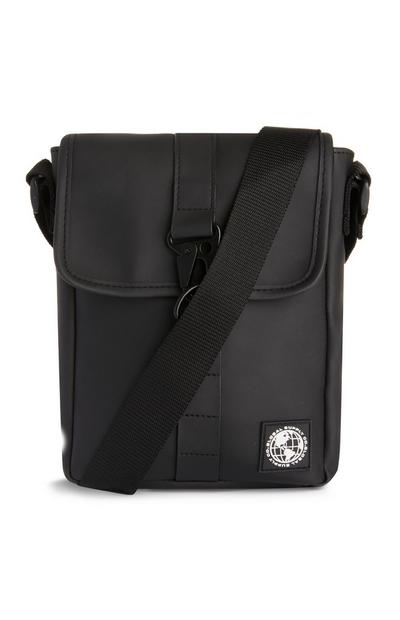 Black Wetlook Man Bag