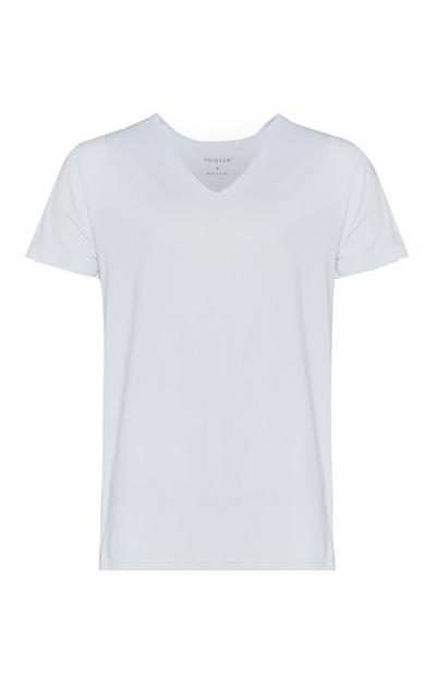 White V-Neck Base Layer T-Shirt