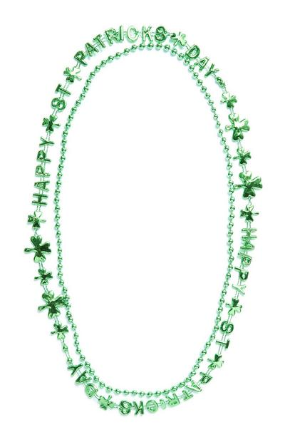 Green St. Patrick's Day Layered Shamrock Necklace