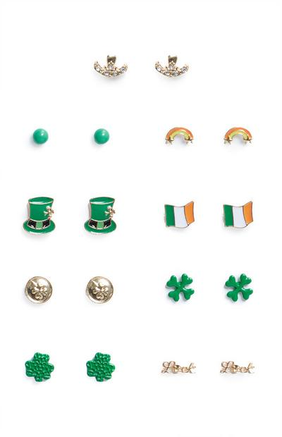 9-Pack St. Patrick's Day Stud Earrings