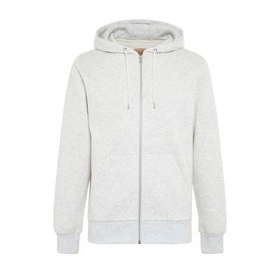 Basic Gray Zip-Up Hoodie