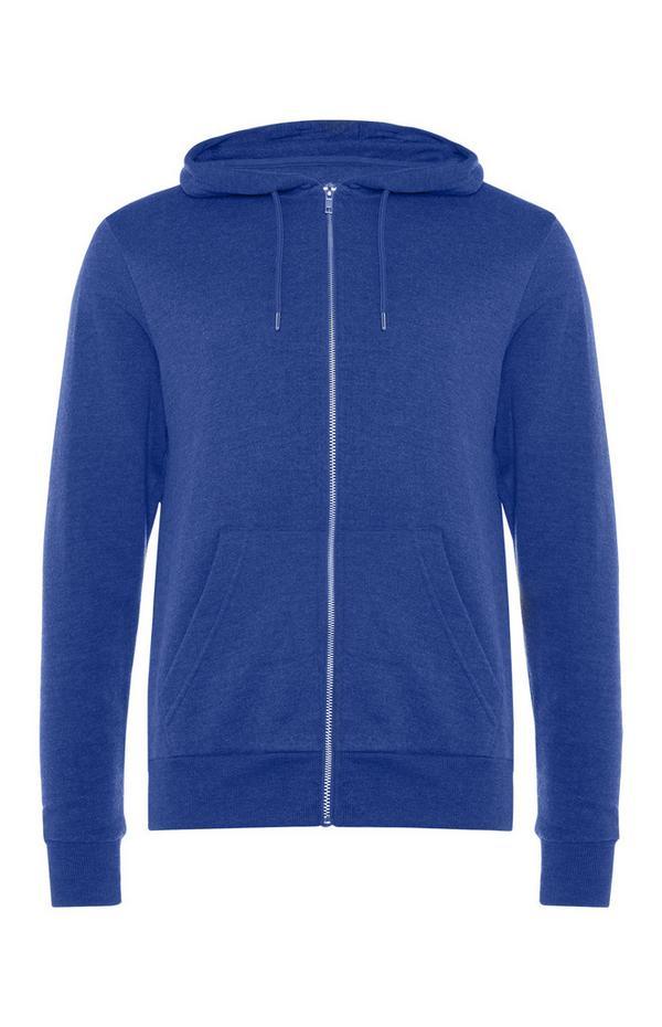 Blauwe hoodie met rits
