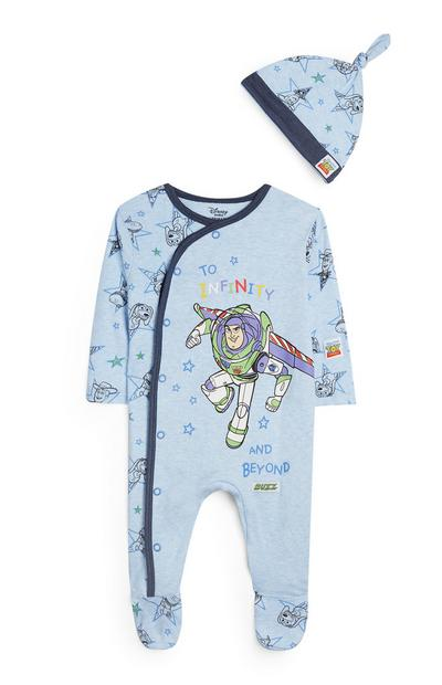 Blue Toy Story Sleepsuit And Hat