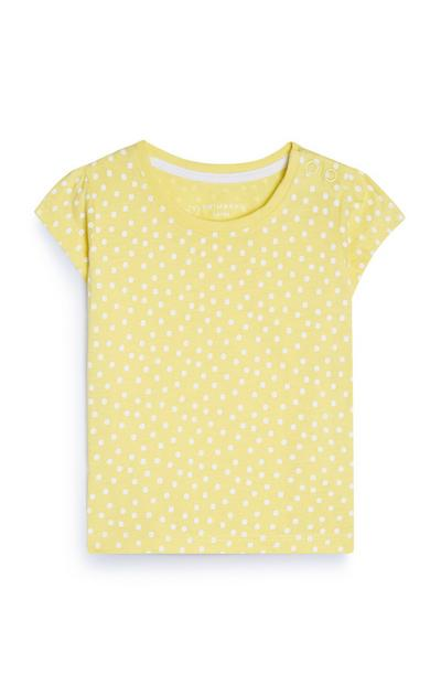Baby Girl Yellow Polka Dot T-Shirt