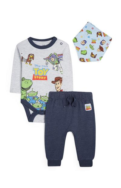 Baby Boy Toy Story Grey And Navy Outfit 3Pc