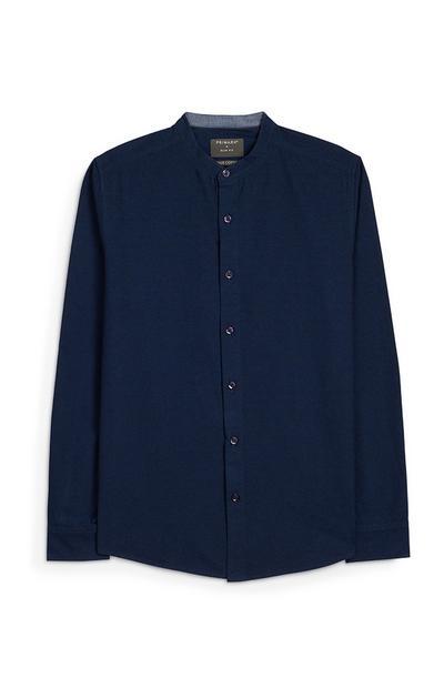 Navy Long Sleeve Button Up Shirt