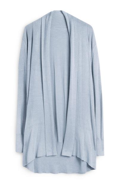 Cardigan azzurro lungo