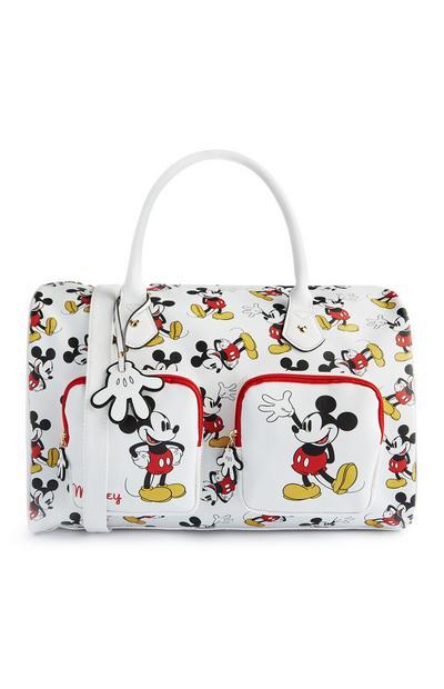 Mala fim de semana Mickey Mouse branco