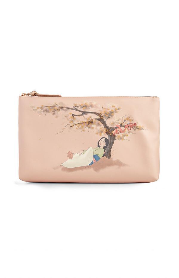 Nécessaire Mulan Disney rosa-pálido
