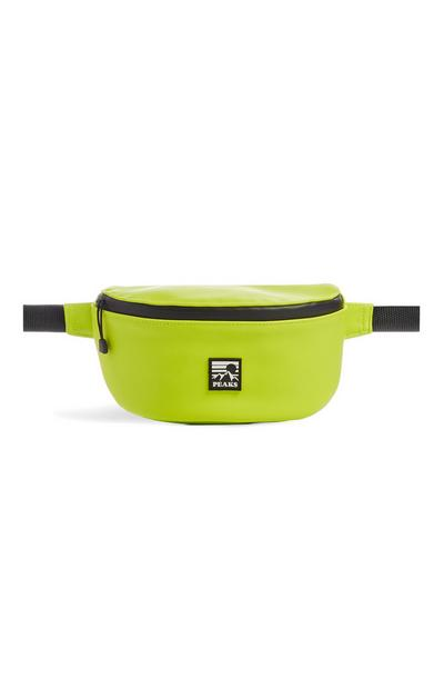 Neon Yellow Wet Look Fanny Pack