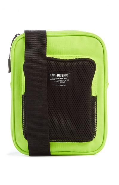 Black And Neon Yellow Man Bag