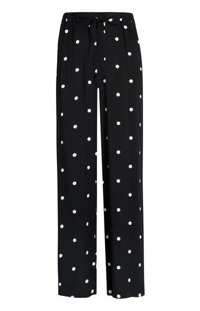 Črne pikčaste hlače