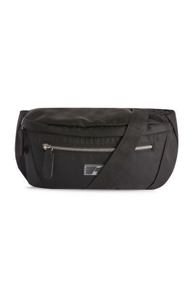 Velika črna torbica za okoli pasu