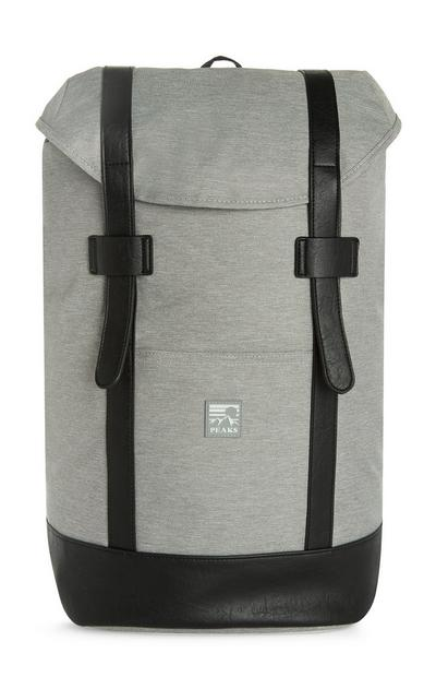 Grey Large Satchel Backpack