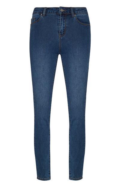 Mittelblaue Skinny Jeans mit Stretch