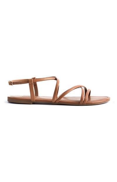 Bruine sandalen met bandjes