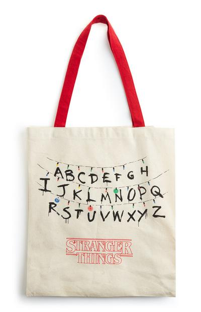 Stranger Things Red Strap Canvas Bag