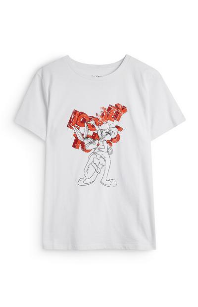 T-shirt bianca Looney Tunes Bugs Bunny e Lola