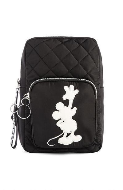 Black Mickey Mouse Nylon Sling Bag
