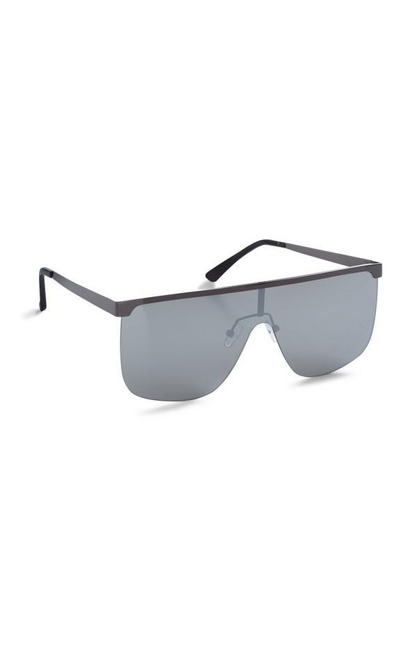 Black Mirrored Square Sunglasses