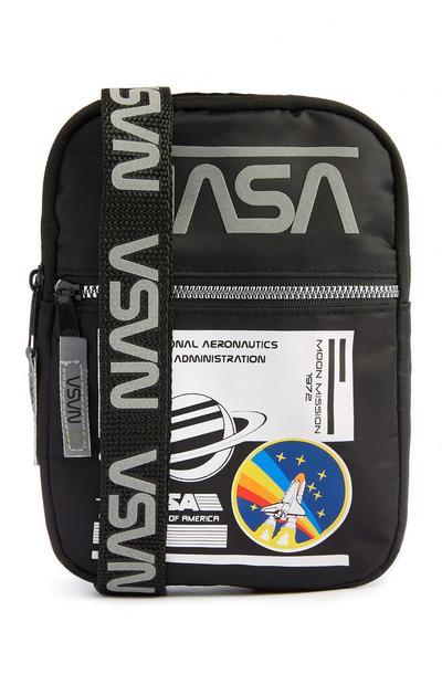 Borsa a tracolla nera NASA