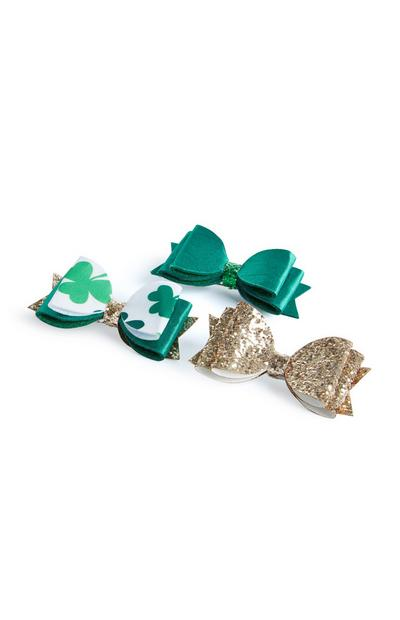 St. Patrick's Day Bow Hair Clips