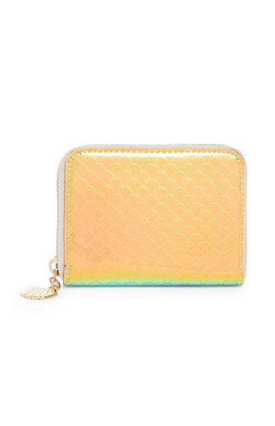Orange Holographic Purse