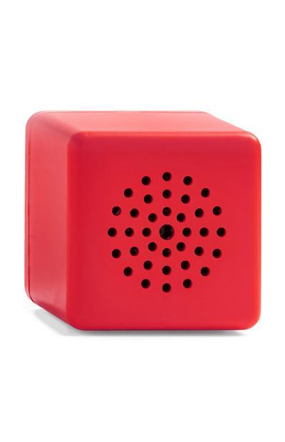 Rode draadloze miniluidspreker in kubusvorm
