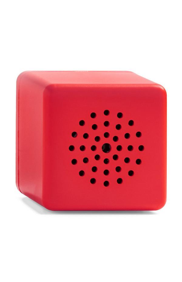 Coluna s/ fios mini cubo vermelho