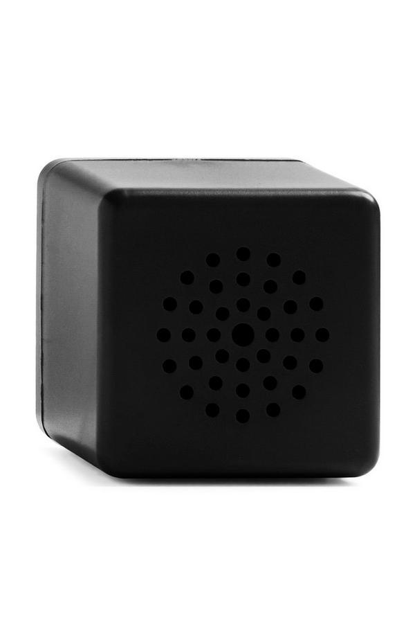 Zwarte draadloze miniluidspreker in kubusvorm