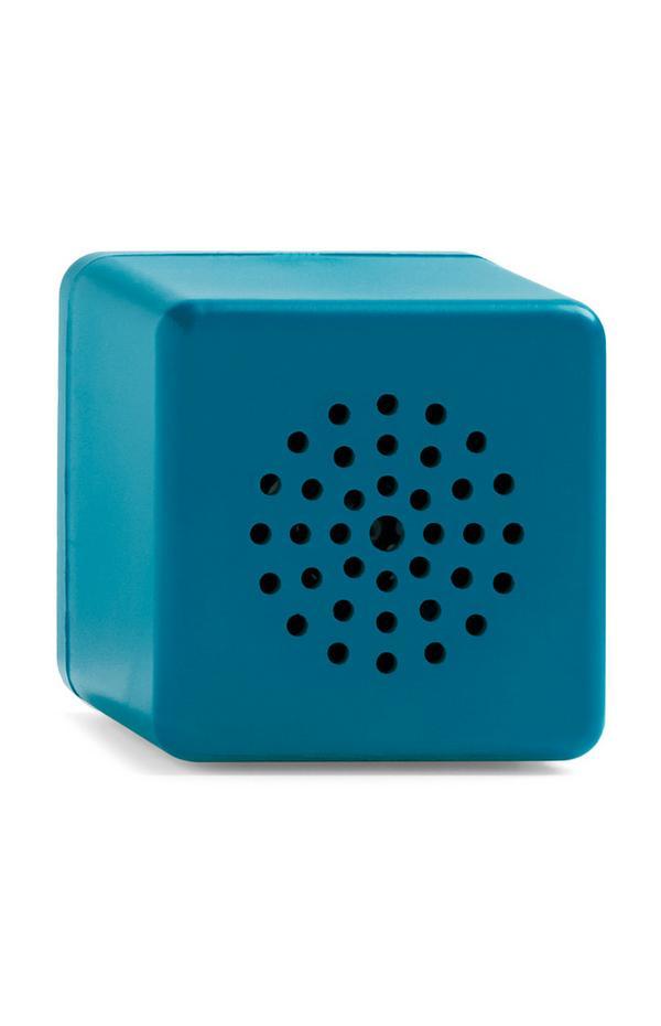 Groen-blauwe draadloze miniluidspreker in kubusvorm