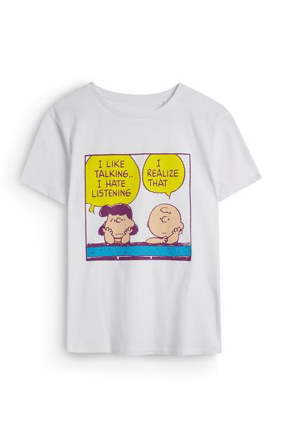 T-shirt bianca con Snoopy